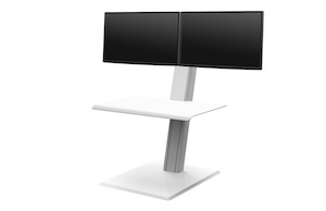 QuickStand Eco, Dos Monitores, Blanco